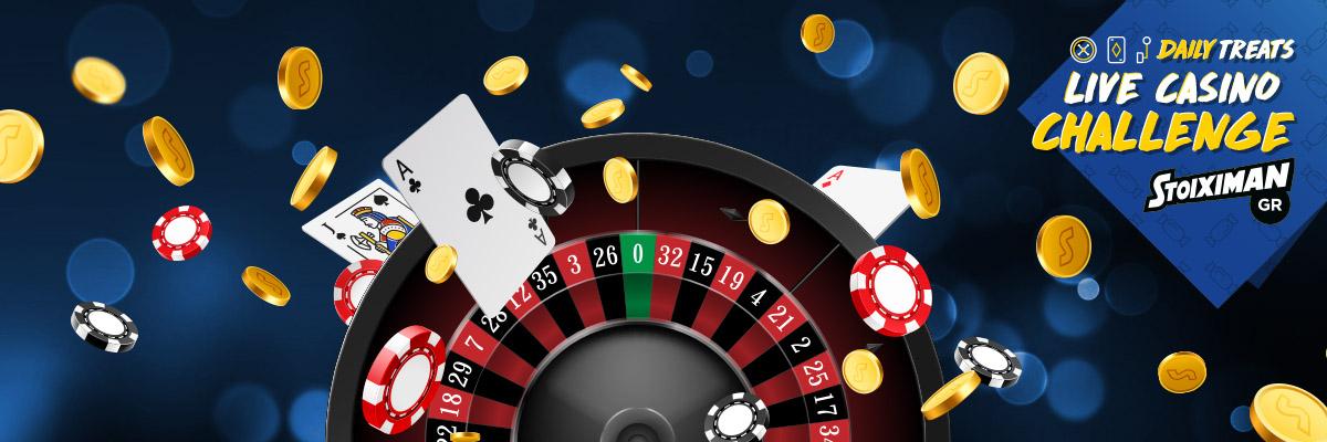 Μεγάλη *Προσφορά στο Live Casino Challenge κάθε Τρίτη!