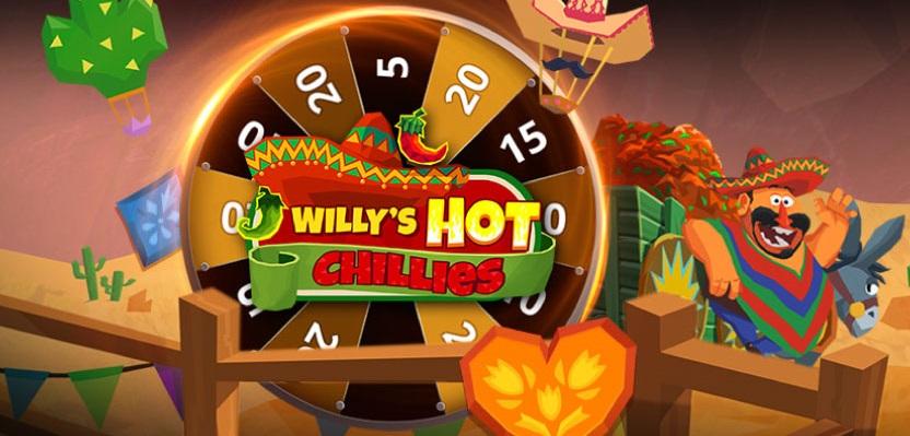 Τυχερός Δωροτροχός* στο Willy's Hot Chillies!